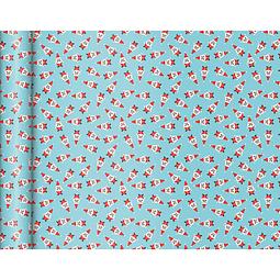 "Rollo de papel de regalo Kraft - ""Santa"" 5 m x 0,35 m"