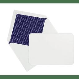"""Juego de 15 tarjetas y sobres """"Correspondence"""" - Azul"""