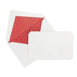 """Juego de 15 tarjetas y sobres """"Correspondence"""" - Red"""