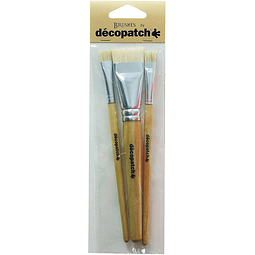 Pack de 3 Brochas de pelo natural - Decopatch