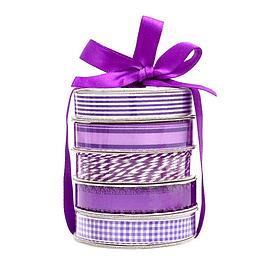 Premium Ribbon Spool - Purple - 5 Piezas