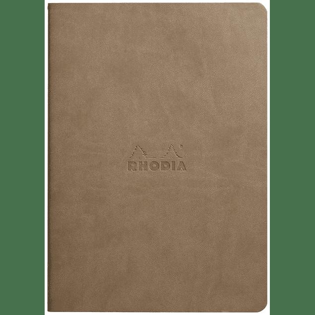 Cuaderno A5 con lomo cosido - Gris Pardo