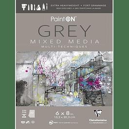 Papel Paint'On Mixed Media - Gris - (3 tamaños)