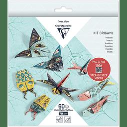 Pack Origami 60 hojas 3 tamaños - Insectos