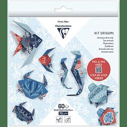 Pack Origami 60 hojas 3 tamaños - Vida Marina