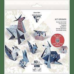 Pack Origami 60 hojas 3 tamaños - Animales del bosque