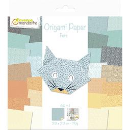 Pack Origami 60 hojas 20 x 20 cm - Pieles