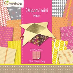 Pack Origami Mini - Neon - 7,5 x 7,5 cm (240 láminas)
