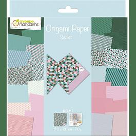 Pack Origami 60 hojas 20 x 20 cm - Escamas