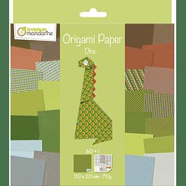 Pack Origami 60 hojas 20 x 20 cm - Dino