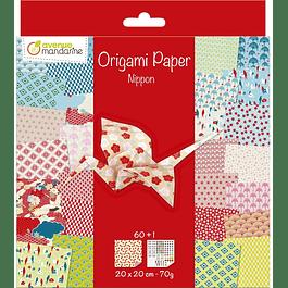 Pack Origami 60 hojas 20 x 20 cm - Nipon