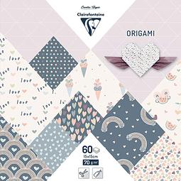 Pack Origami 60 hojas 15 x 15 cm - Pequeño Amor
