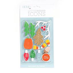 Die Cuts with A View Icon Pack Letterboard-Fall/Winter (15 pcs)