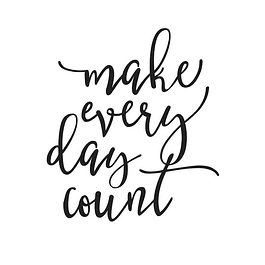 LARGE MAKE EVERY DAY COUNT BLACK PLANNER DECAL