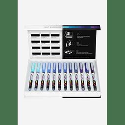 Pigment Decobrush   Violet-Blue Colors Collection 12 colors