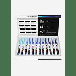 Pigment Decobrush | Violet-Blue Colors Collection 12 colors