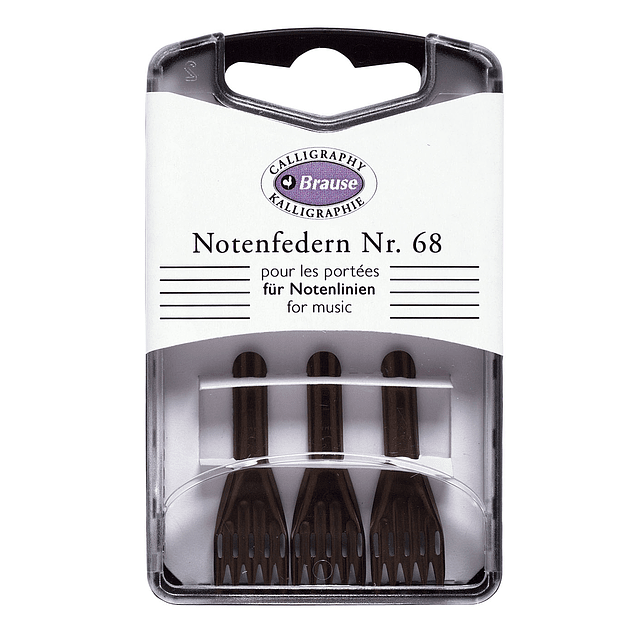 caja con 3 plumillas notenfedern nr 68