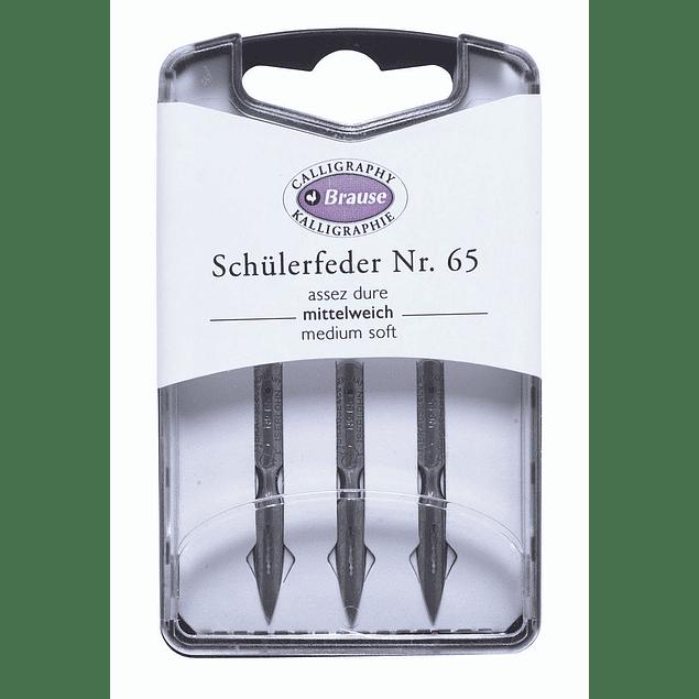caja con 3 plumillas schulerfeder  nr 65