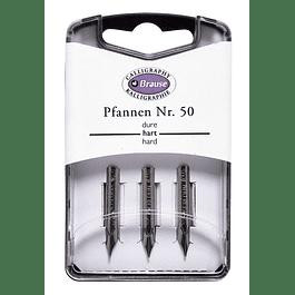 caja con 3 plumillas Pfannen Nr. 50