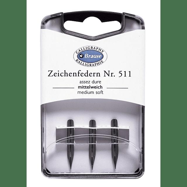 caja con 3 plumillas zeichenfedern Nr 511