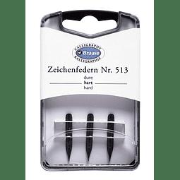 caja con 3 plumillas zeichenfedern nr 513