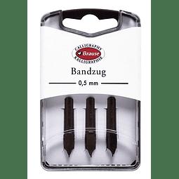 caja con 3 plumillas bandzug 0,5mm