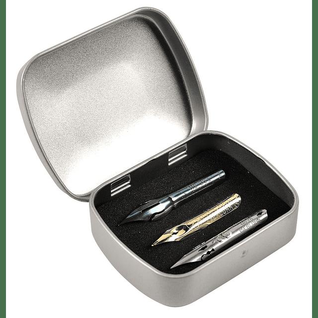 Caja con 6 plumas surtidas serie escritura