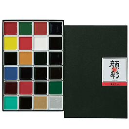Akashiya Gansai 24 colors
