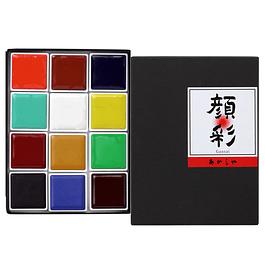 Akashiya Gansai 12 colors