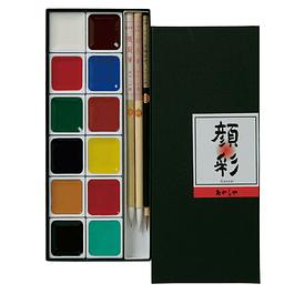 Akashiya Gansai 12 colors + 3 Pinceles