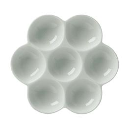 Paleta Mezcladora de Porcelana con 7 espacios Flor