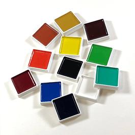 Acuarelas Akashiya Gansai - 24 colores