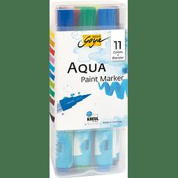 """Set de 12 Marcadores Punta Pincel Acuarelables - """"Aqua"""" + Blender"""