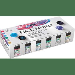 Set Pintura Magic Marble Colores Metalizados