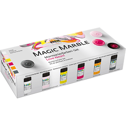 Set Pintura Magic Marble Colores Neon