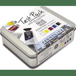 Sennelier Rive Gauche - Juego de 5 tubos de 21 ml Test Pack