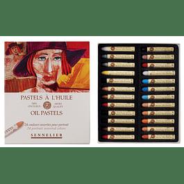 Caja de 24 pasteles al óleo Retrato