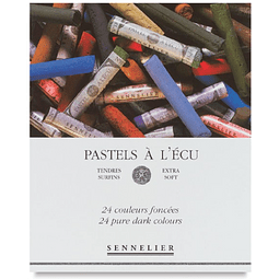 """Caja de cartón con 24 pasteles """"ecu"""" iridiscentes Sennelier"""