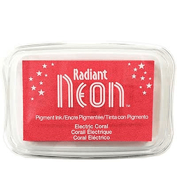 Radiant Neon full-size inkpad - Electric Coral