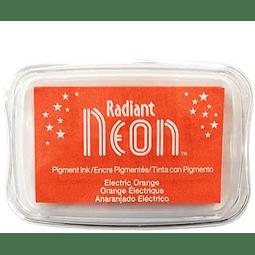 Radiant Neon full-size inkpad - Electric Orange