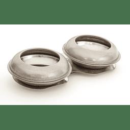 Aceitera de aluminio doble orificio grande