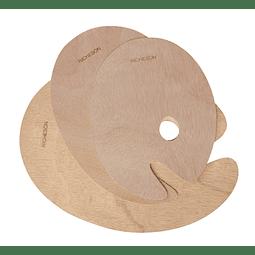Paleta Ovalada de madera