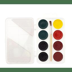 Conjuntos de 8 acuarelas semihúmedas + Pincel