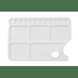 Paleta rectangular de 17 pocillos
