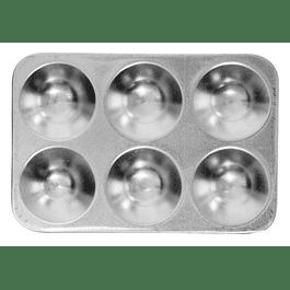 Bandeja rectangular De Aluminio De 6 pozos