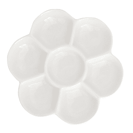 Paleta de flor de porcelana de 7 pocillos