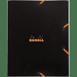 Carpeta elástica de 3 solapas 19 x 24 cm - Negro