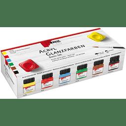 Acrílico brillante - Set básico de 6 colores