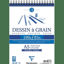 """Bloc dibujo doble cara """"Dessin a Grain"""" N°3"""
