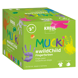 Juego premium de pintura para dedos MUCKI #wildChild